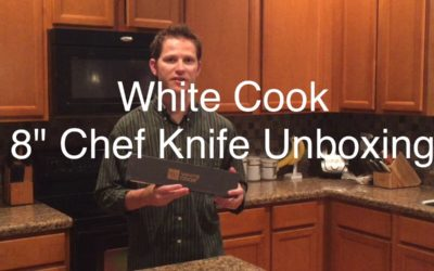 White Cook 8″ Chef Knife Unboxing
